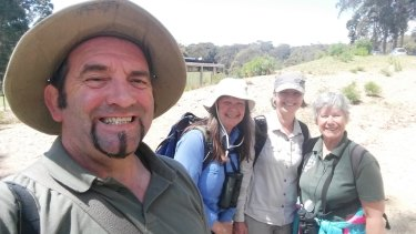 Stuart Harris, Julie Morgan, Helen Ransom and Diane Deans while on the BioBlitz expedition.