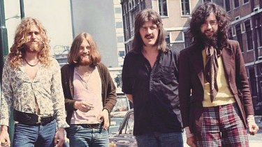Led Zeppelin at the height of their popularity.