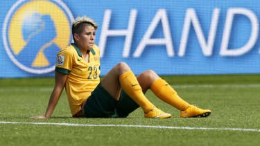 Matildas striker Michelle Heyman has hit out at the wages paid to the women's national team by the FFA.