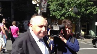 David Bitel leaving court.