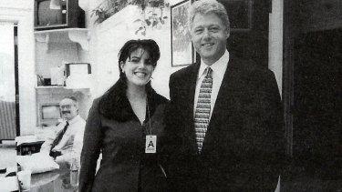 President Clinton and White House intern Monica Lewinsky.