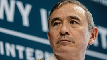 The Commander of the United States Pacific Command, Admiral Harry Harris in Sydney in 2016.