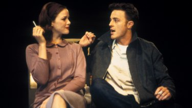 Eloise Oxer and Nathaniel Dean in the Sydney Theatre Company production of <i>The One Day of the Year</i>, by Alan Seymour.