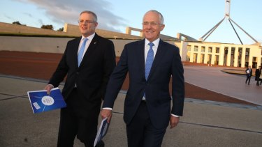Treasurer Scott Morrison (left) and Prime Minister Malcolm Turnbull have produced an inadequate budget to tackle economic realities, says Alex Malley.