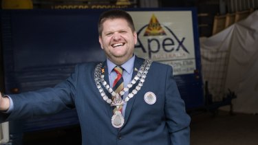 National Apex president Mathew O'Donnell.