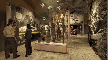 An artist's impression of the new Sir John Monash centre at Villers-Bretonneaux.