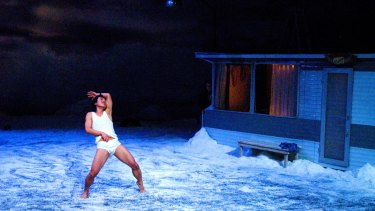 The sky is vast and shifting, the light dramatic in Peeping Tom's production for the festival.