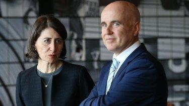 Former NSW education minister Adrian Piccoli and Premier Gladys Berejiklian.