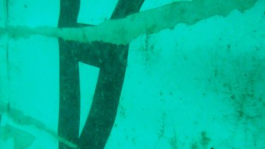 The first underwater images of the wreckage have been released.