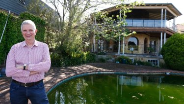 Empty nester: Mervyn Davies at his home on Sydney's north shore.