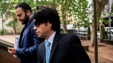 Fadi Ibrahim arrives at court