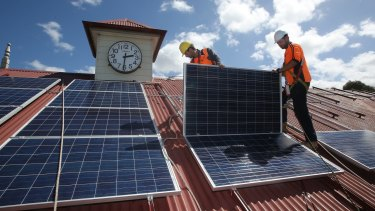 Solar panel prices have dropped 80 per cent in five years.