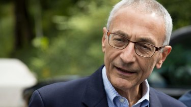 Hillary Clinton's campaign manager John Podesta has his own emails hacked.