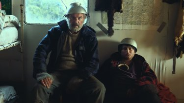 Sam Neill and Julian Dennison in <i>Hunt for the Wilderpeople</i>.