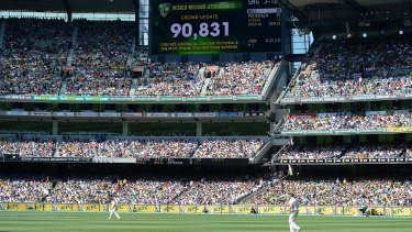 World record attendance reached in the 2013 Boxing Day Test at the MCG.