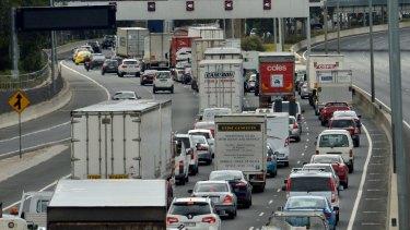 Heavy traffic on the Monash Freeway.
