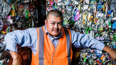 Polytrade Recycling manager Nathan Ung said the China crackdown would make it harder to do business.