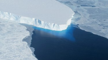 Disappearing: The melting Thwaites Glacier in west Antarctica is projected to raise global sea levels by nearly 60 centimetres over coming centuries.