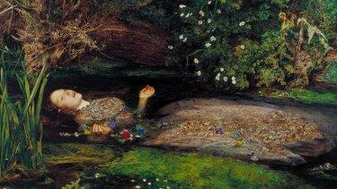 Ophelia by John Everett Millais: model Elizabeth Siddal fell ill posing in a cold bath.