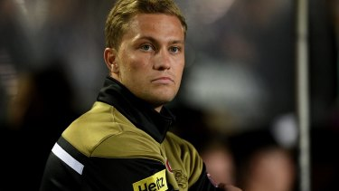 Out of action: Matt Moylan has missed Penrith's last month of the season - including the club's finals campaign - because of injury.
