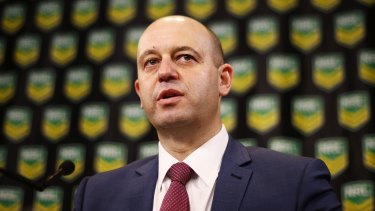 Pledging full co-operation: NRL CEO Todd Greenberg says anyone found guilty of match fixing would be banned for life.