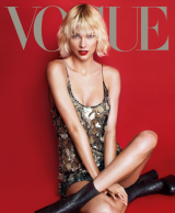 Taylor Swift on the cover of May's US <i>Vogue</i>.