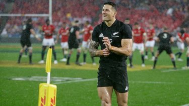 Low moment: Williams walks from the field after his red card during the second Test against the Lions.