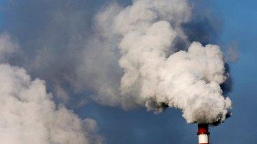 Smoke billows from chimneys in China.