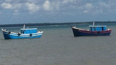 Jasmine and Kanak, the boats the Australian authorities gave the people smugglers before sending them back to Indonesia.