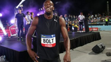 Not looking back: Usain Bolt.
