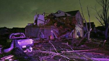Tornadoes destroyed nearly 450 buildings in Rowlett last year.