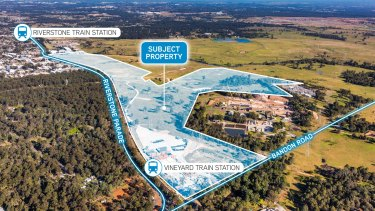 A private property syndicate is selling a 65-hectare site at Riverstone West.