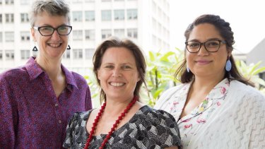 Co-authors of the study: Professor Elizabeth Harry (left), Shona Blair and Nural Cokcetin (right) from the University of Technology, Sydney.