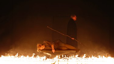 Ring of fire: Lise Lindstrom (Brunnhilde) and James Johnson (Wotan).