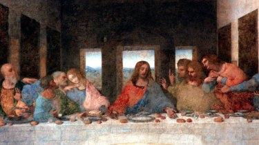 Detail from The Last Supper  by Leonardo Da Vinci.