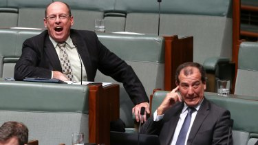 Liberal MP Luke Simpkins interjects before being kicked out of question time in September 2014.