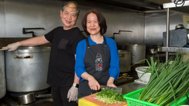 Tan Vo runs the kitchen with wife Hien and serves pho for breakfast, lunch and dinner.