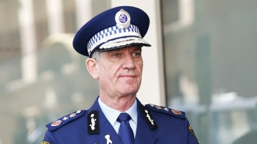NSW Police Commissioner Andrew Scipione arrives at the Lindt cafe siege inquest.