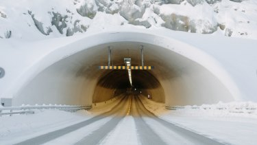 A Norwegian tunnel in Kirkenes, near the border with Russia.