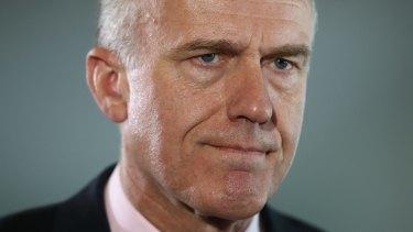 Not happy: Liberal senator Eric Abetz.