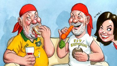 Peter Fitzsimons lost a third of his body weight after giving up alcohol and sugar.
