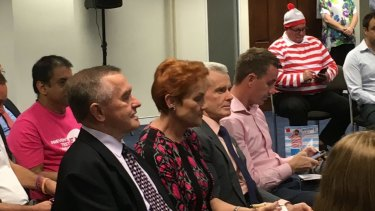 Pauline Hanson waits to see where she will be placed on the Senate ballot paper.