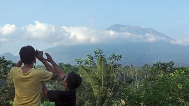 Mount Agung in Bali, Indonesia.