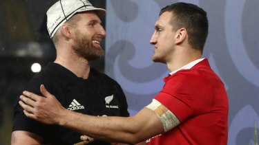 Can't split em: Opposing captains Kieran Read of the All Blacks and Sam Warburton of the Lions.