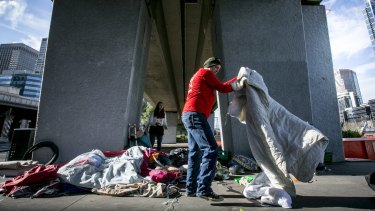 Melbourne City Council has been flooded with complaints about homeless people in the CBD.