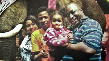 An undated photo of Eric Garner with his family.