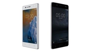 The smaller Nokia 3 and Nokia 5.