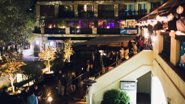 Better times: Hugos Lounge attracted a well-heeled crowd to Kings Cross for 15 years.