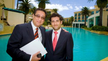 Property developer Soheil Abedian and his son Sahba, who run Sunland.