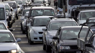 Clogged intersections add to overall traffic congestion.